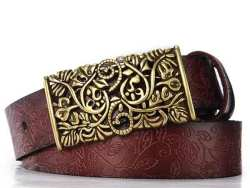 Belt For Women Waistband Cowskin Leather