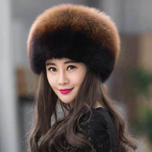 Silver Fox Fur Beanies 1