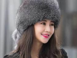 Silver Fox Fur Beanies