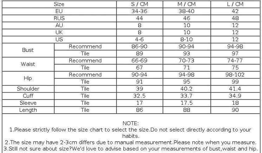 Size guide dres