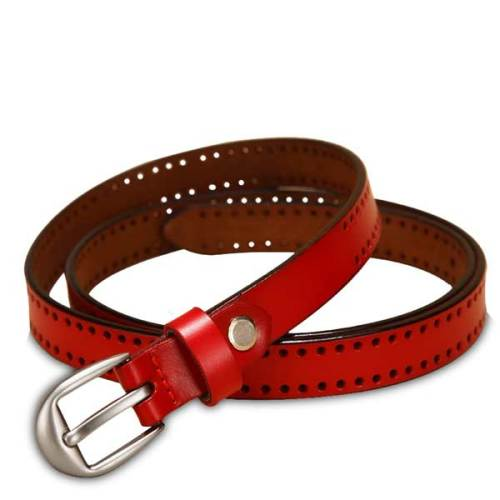 women traps leather dress belt