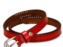 women traps leather dress belt