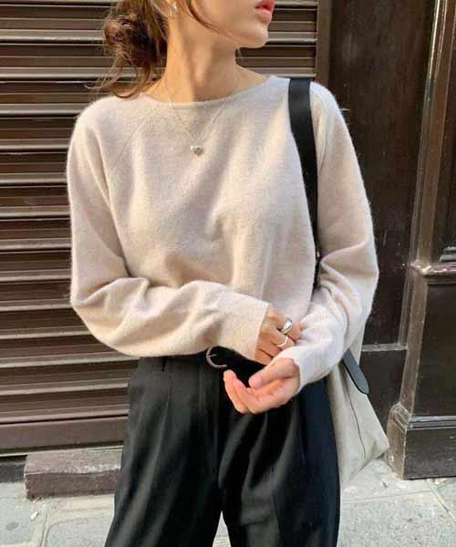 creamy white cashmere sweater