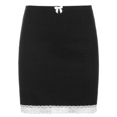 Black Min Skirts