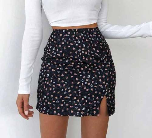 Floral Printed Mini Skirts