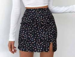 Floral Printed Mini Skirts