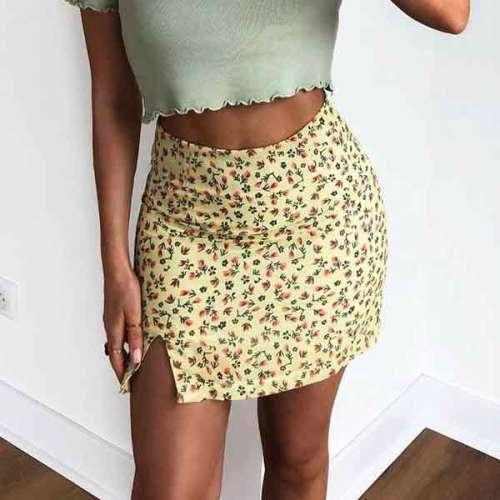 Printed Mini Skirts3