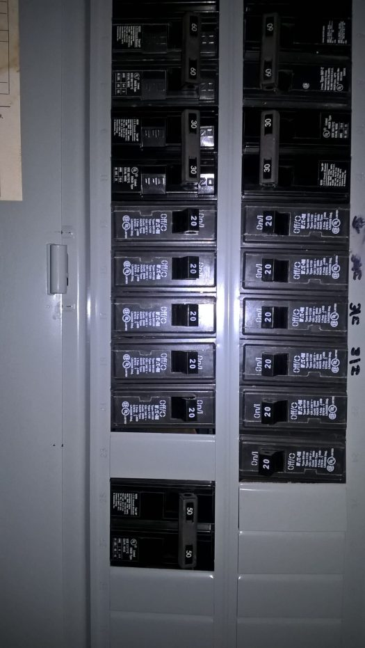 Main circuit breaker panel