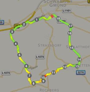 Route Wanderung Rechberg