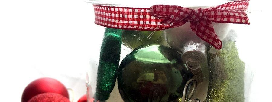 Weihnachtsdeko-Glas