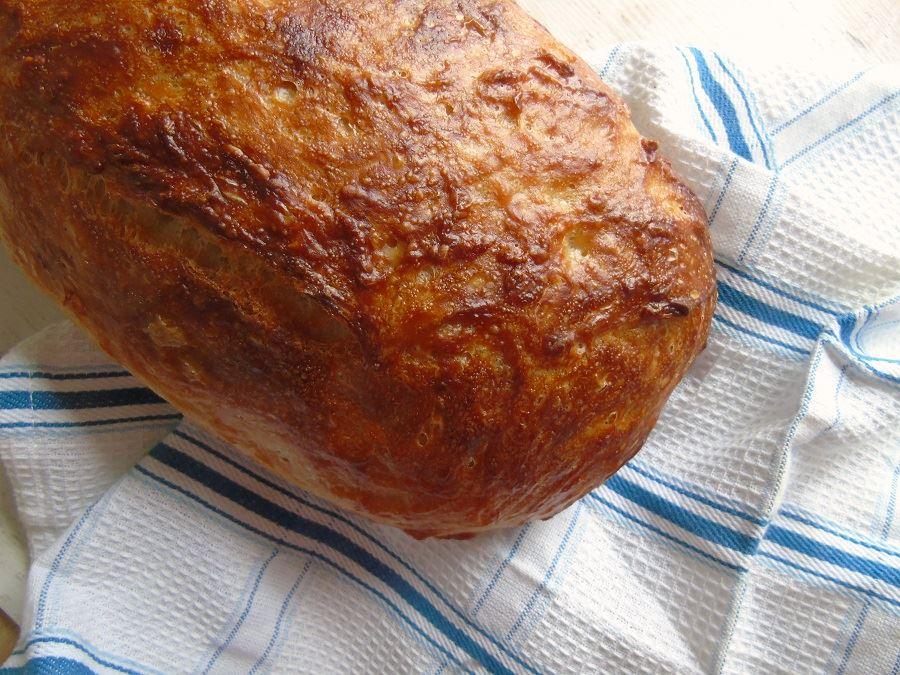 Knuspriger Brotlaib frisch aus dem Ofen