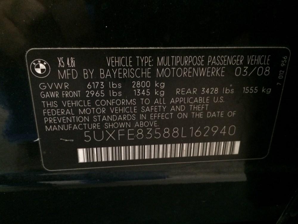 2008 BMW X5 4.8i Sport for sale at Mini Me Motors in Beirut, Lebanon +961 1 879 878. www.minimemotors.com (6/6)