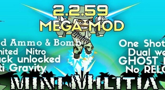 Mini-Militia-2.2.59-Mega-Mod-Pro-Pack-One-shot-kill-modUnlimited-Nitro Mini Militia 4.0.11 Mega Mod Pro Pack: One shot kill mod+Unlimited Nitro