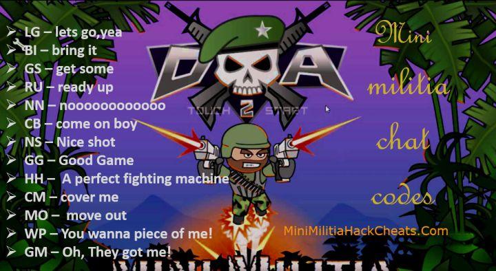 Mini Militia Chat Commands