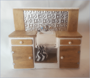 Miniature Kitchen Sink Unit by Melissa