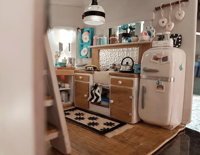 miniature kitchen finished 1
