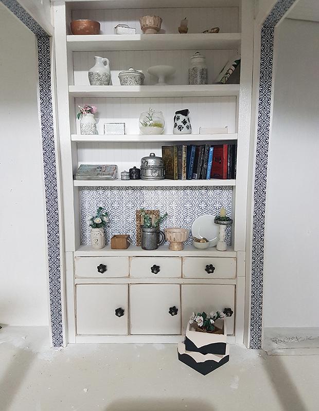 dollhouse scratch built cabinet