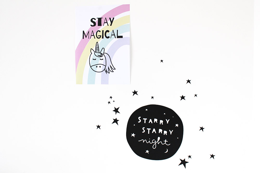 poster kinderkamer babykamer unicorn stay magical