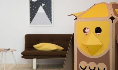 hulki kartonnen speelhuisje OWL_YELLOW (2)