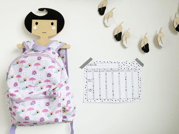 Printable weekplanner kinderen printen