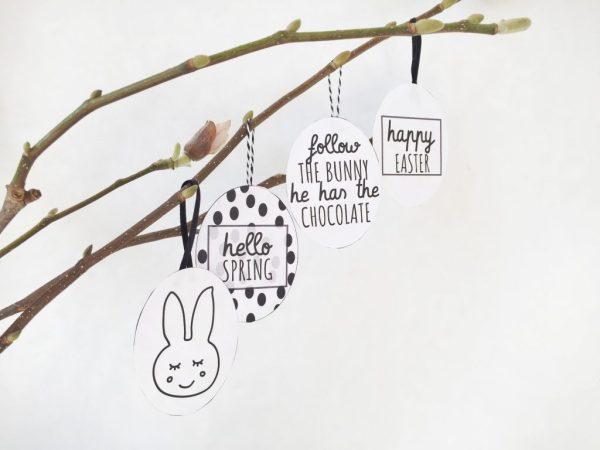 Paastak decoratie zelf maken gratis printables Pasen