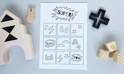 beloningskaart gratis printable superhero