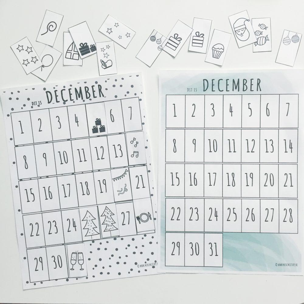 december kalender maandplanner