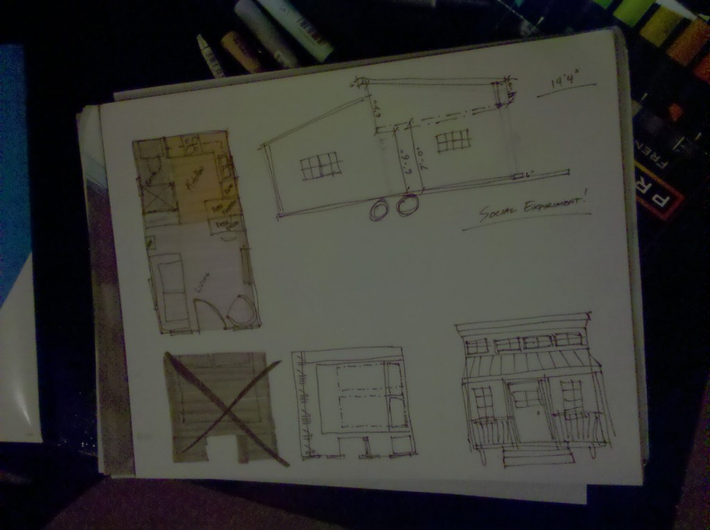 Macy Miller's tiny house sketches
