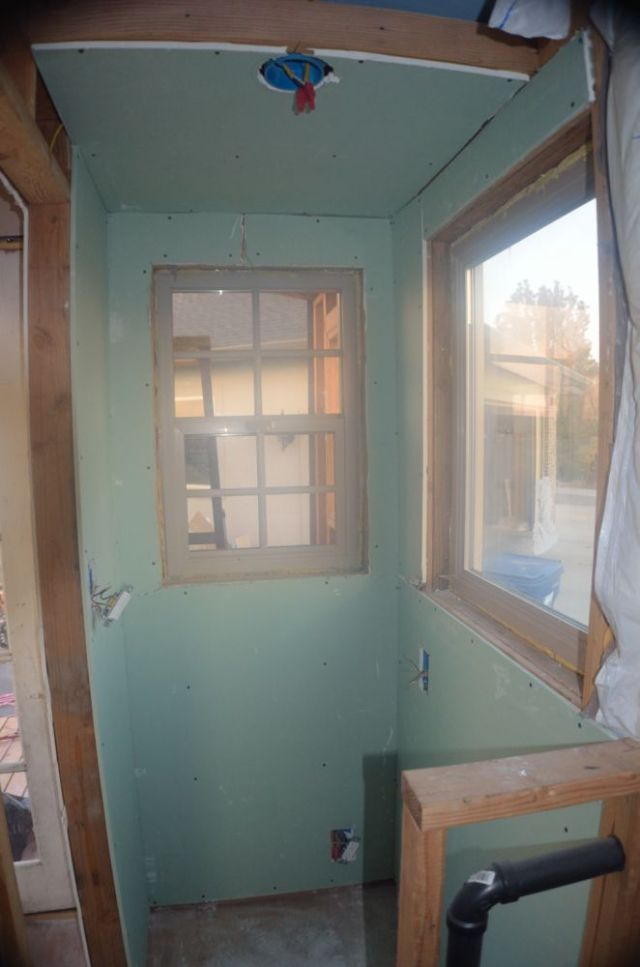 This is where the potty goes... its bright and airy, I will definitely need some creative window shades.... any ideas?