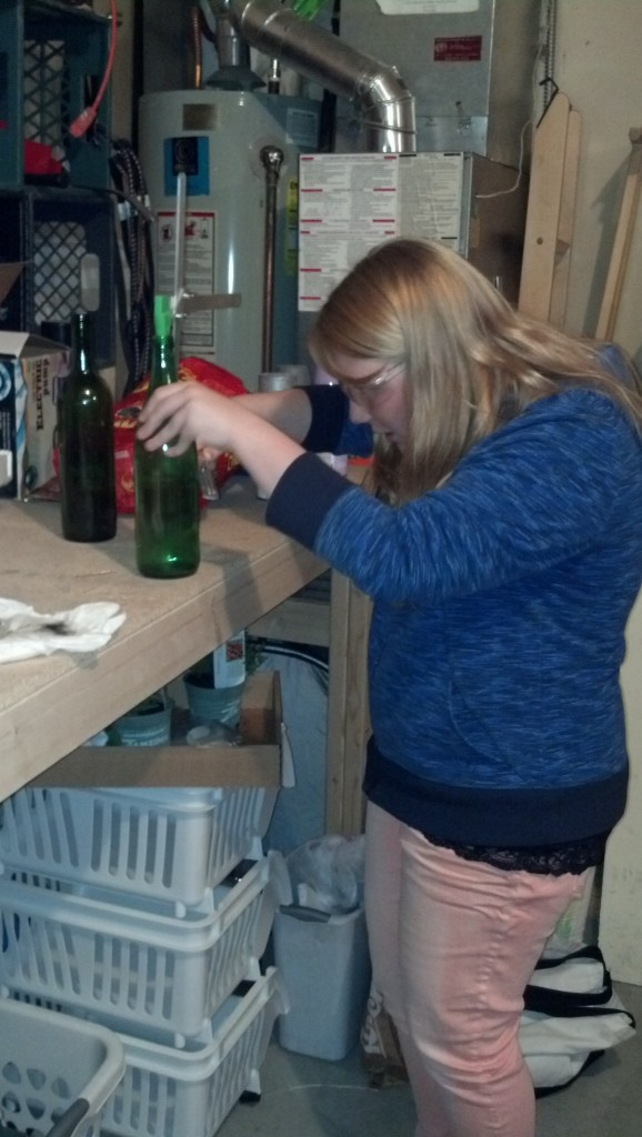 Here Carissa is scoring her bottle