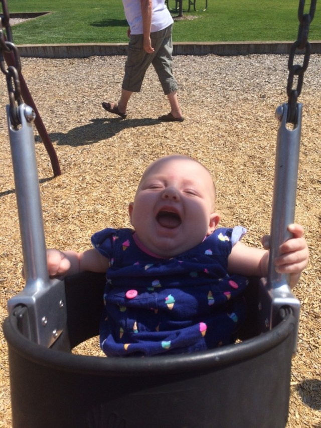 Shes a wild child, LOVES swinging