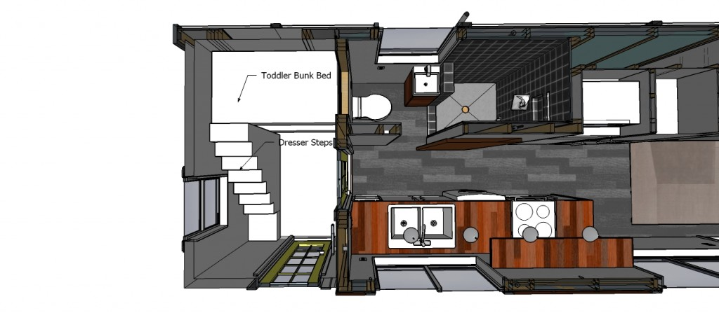 this would incorporate steps up to the top bunk that double as storage i donu0027t think i like this layout as well but itu0027s always a good idea to consider the