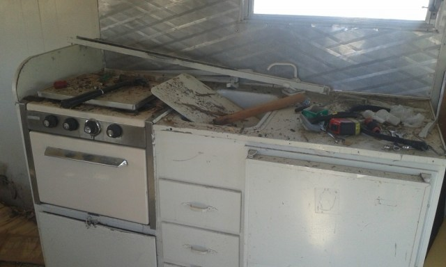 I am saving all the little aluminum pieces and appliances for reuse, its a MESS!