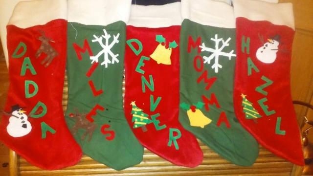I finally made some Xmas stockings ;-)