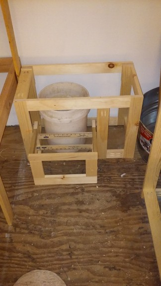 Stool out (the facing will flip down to be the step)