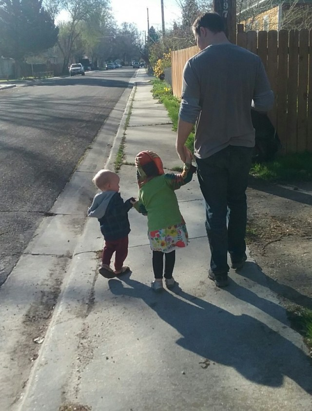 We even fit in a quiet morning walk where this precious family locked hands! Awwww