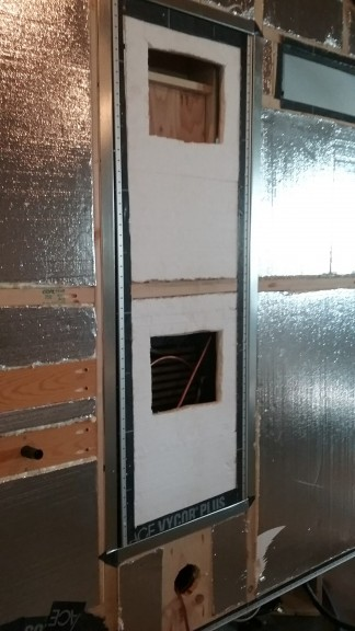 cutting the vents for the door