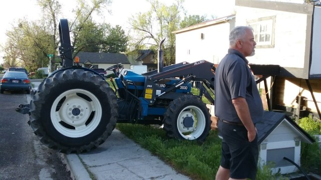 Lucky to know a guy who has a tractor! ;-)