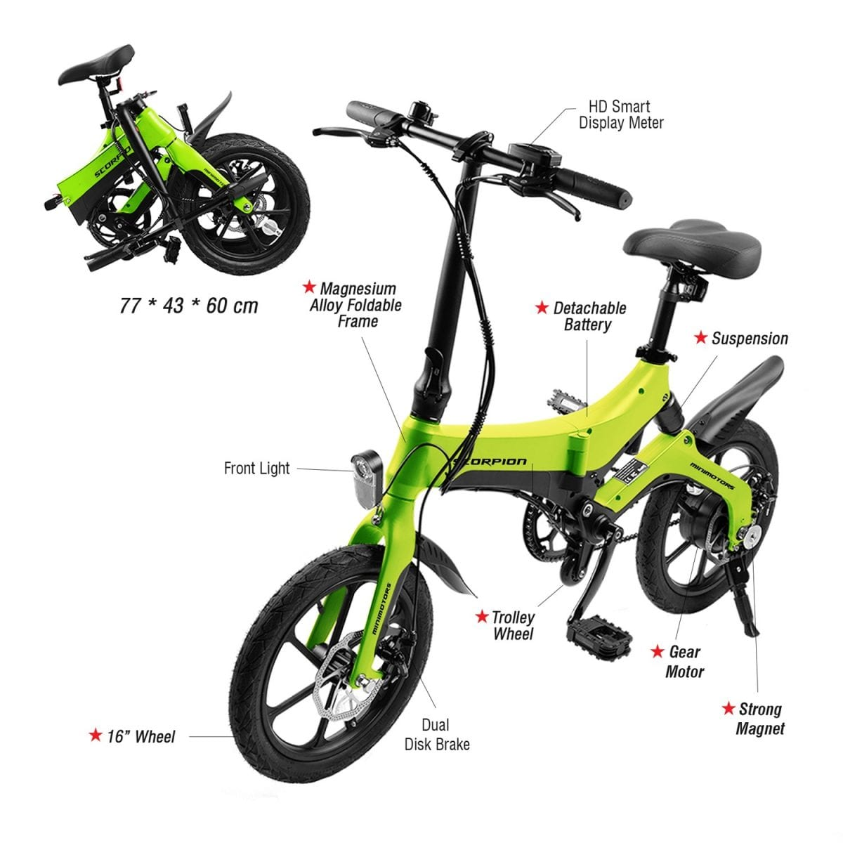Scorpion Electric Bicycle Details
