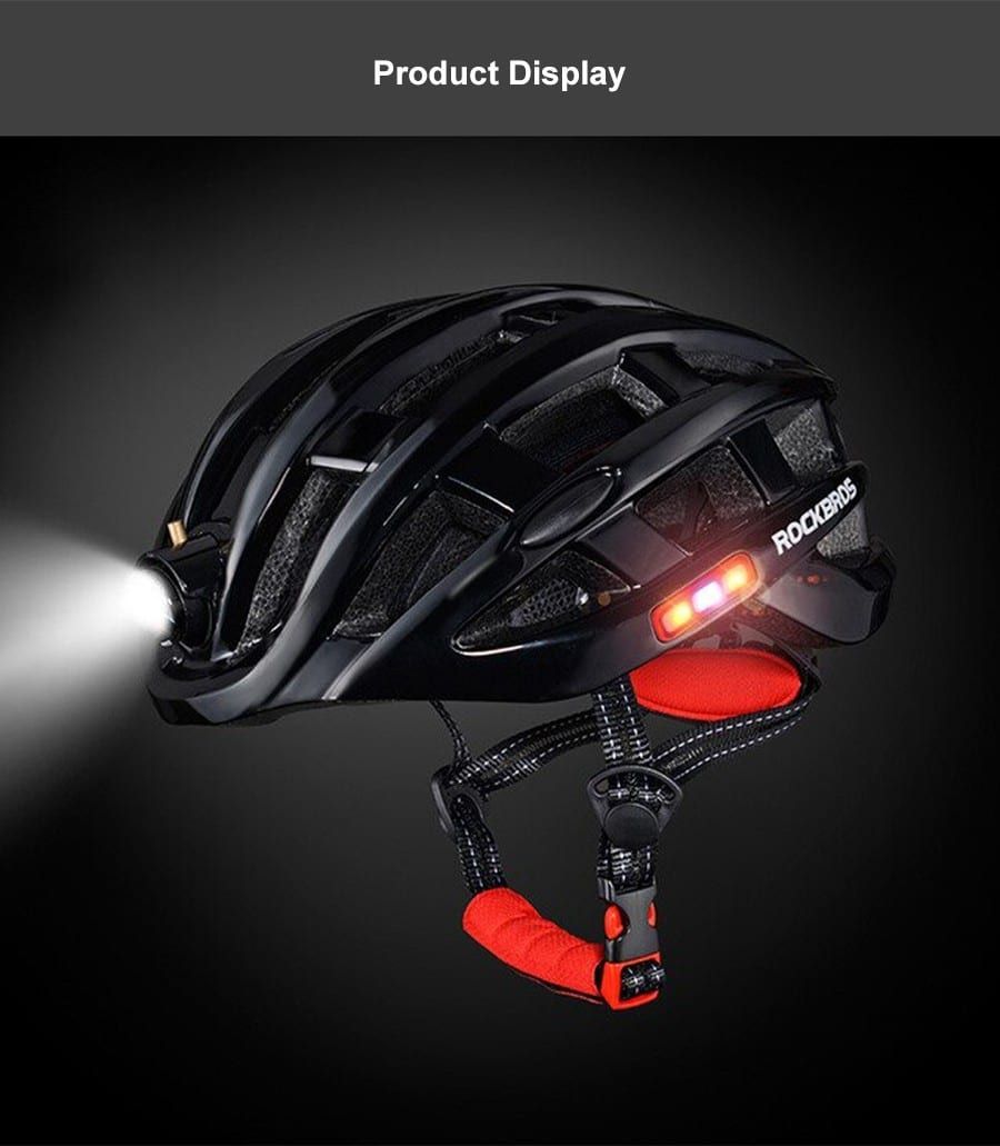Rockbros Night Safety Riding Bicycle Helmet with Light ZN1001 p12