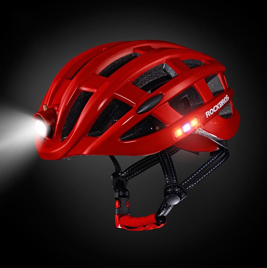 Rockbros Night Safety Riding Bicycle Helmet with Light ZN1001 p13