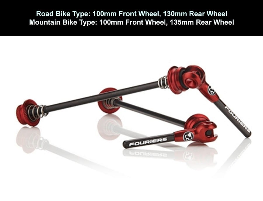 FOURIERS Bicycle Quick Release Titanium Axle With Carbon Lever