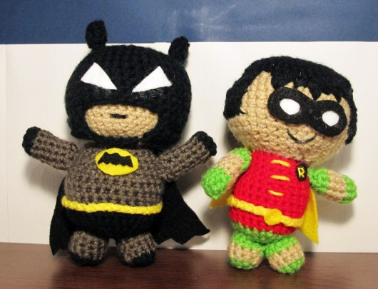 Batman and Robin amigurumi