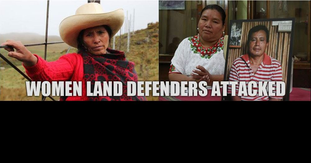 A powerful demonstration of solidarity in support of women land defenders