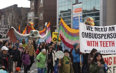 Hundreds Take to the Streets to Call for Justice for Communities Abused by Canadian Mining