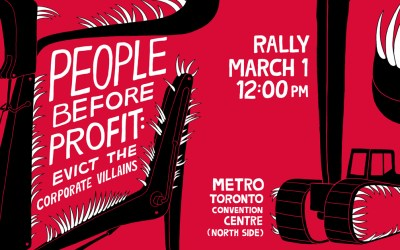 People Before Profit: Evict the Corporate Villains!