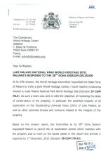 2015-12 Malawi Response to UNESCO on Lake Malawi Natinal Park 1