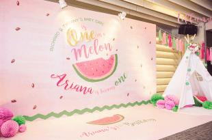 【育兒】迷你妮一歲Watermelon生日趴