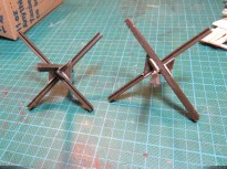 Some improved Tamiya tank traps (I added the welding lines with epoxy putty)