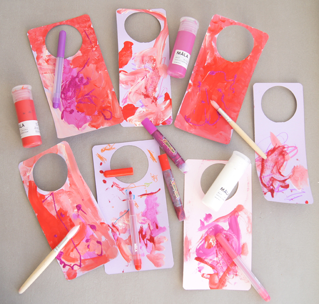 Mini Piccolini - DIY Wine Bottle (Process Art) Gift Tags for Valentines Day Teacher Gift